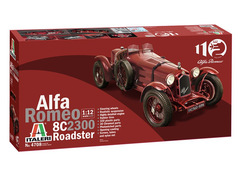 Alfa Romeo 8C 2300 Roadster 110th Anniversary - 1:12