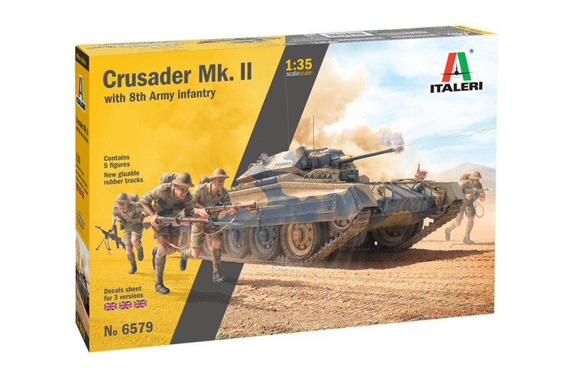 Crusader Mk.II with 8th Army Infantry