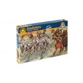 Gladiators, horses, lions, bear and chariot